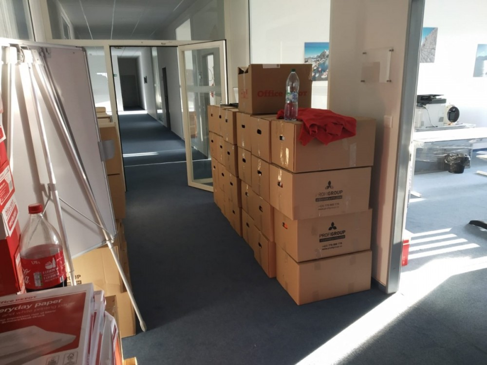 stěhování kanceláře v Praze