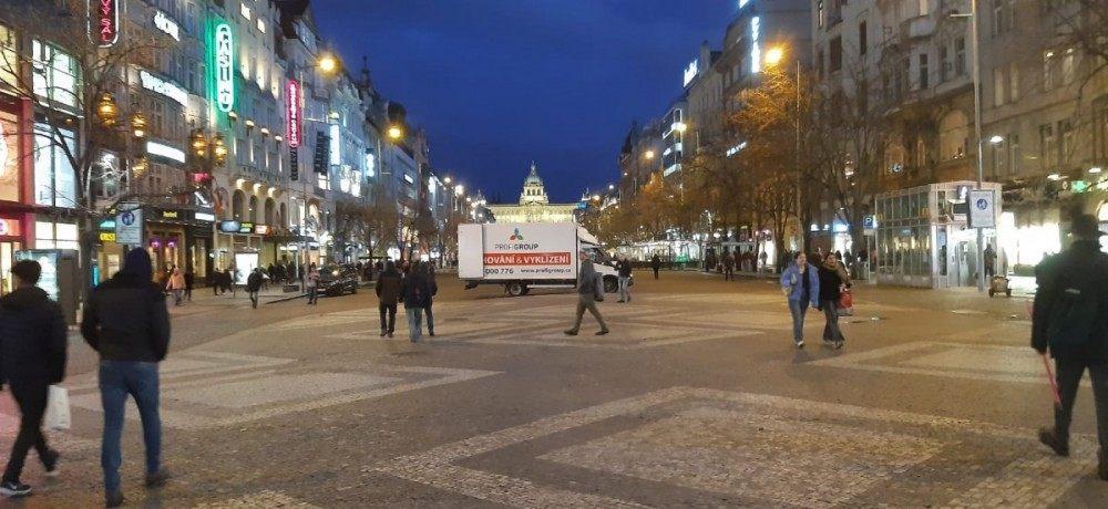 stěhování Václavské náměstí v Praze