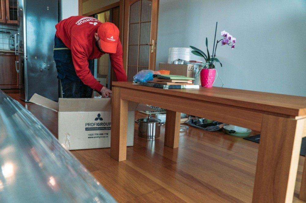 skladování krabic